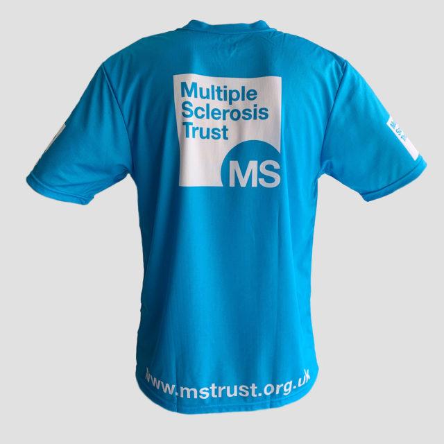 Unisex MS Trust blue breathable t-shirt - back