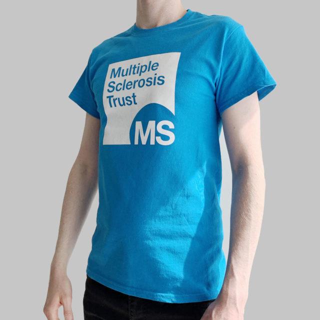 Unisex MS Trust blue cotton t-shirt - side