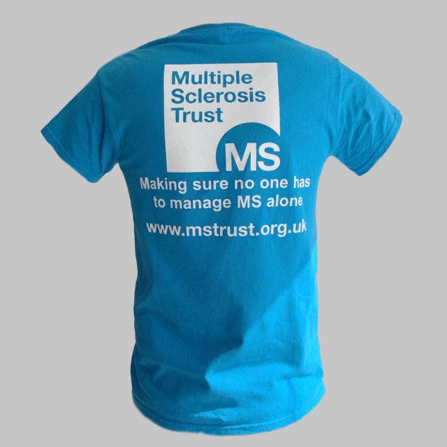 Unisex MS Trust blue cotton t-shirt - back
