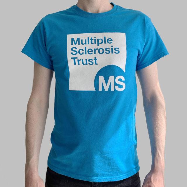 Unisex MS Trust blue cotton t-shirt - front