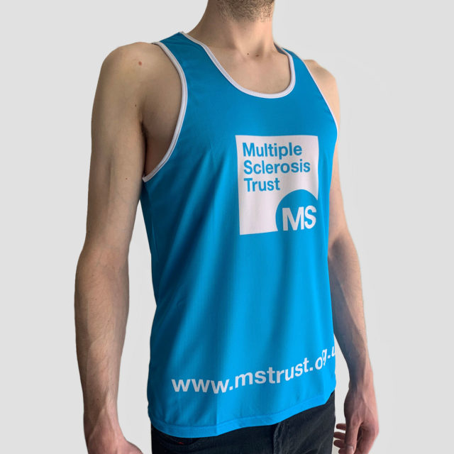 Men's MS Trust blue running vest - side 1