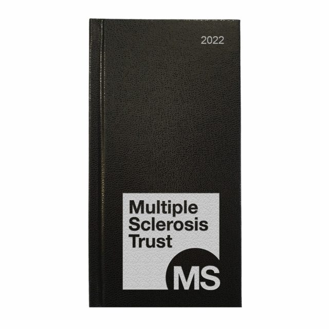 MS Trust charity diary 2022 black cover