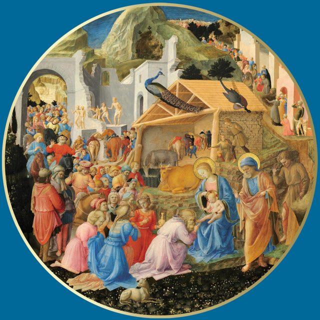 Adoration of Maji religious Christmas card