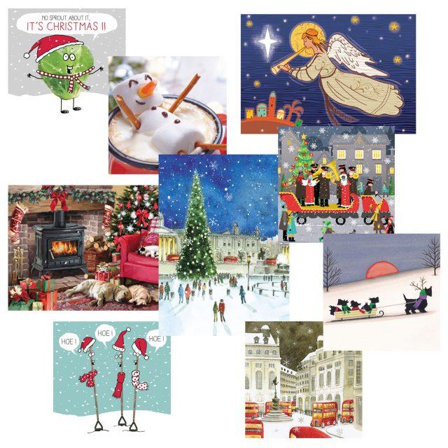 Bargain selection charity Christmas card